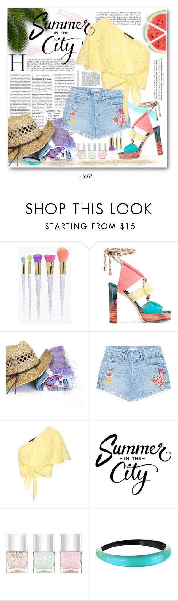 """""""Summer 2017"""" by antal-era on Polyvore featuring Anja, Boohoo, Jimmy Choo, GRLFRND, Anna October, Nails Inc. and Alexis Bittar"""