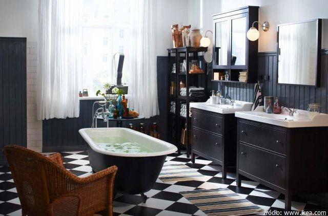 Klasyczna łazienka z rustykalnym charakterem od IKEA