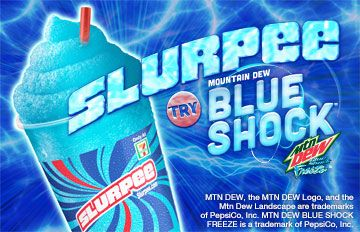 Slurpee Mountain Dew Blue Shock Flavor | Helpful Hints ...