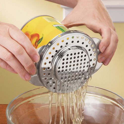 Stainless Steel Can Strainer // need this! #product_design #kitchen #gadget