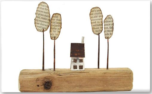 #little #houses art so very cool. I love the little little's' world they create