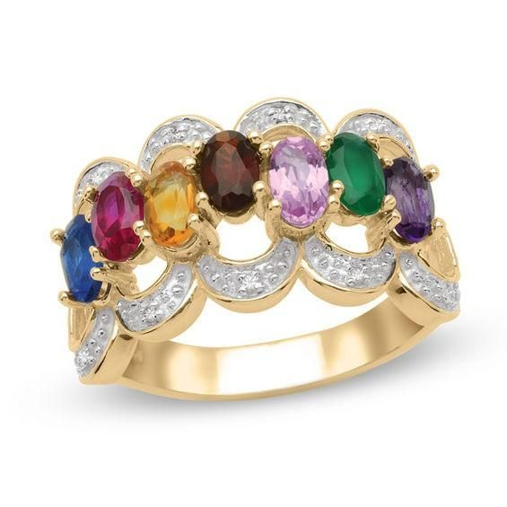 Zales Mothers Birthstone Heart Outline Ring (1-7 Stones) hDYgIYOn