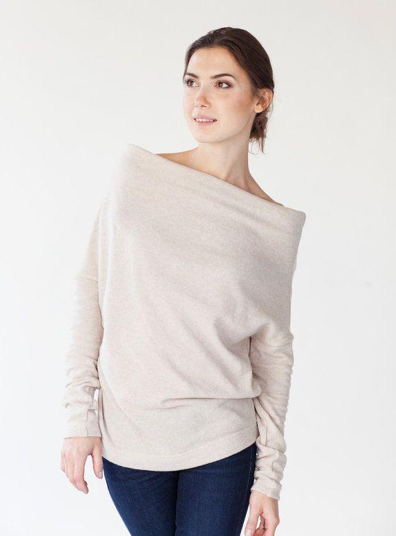 LeMuse warm Creamy Woolen Sweater by LeMuse on Etsy