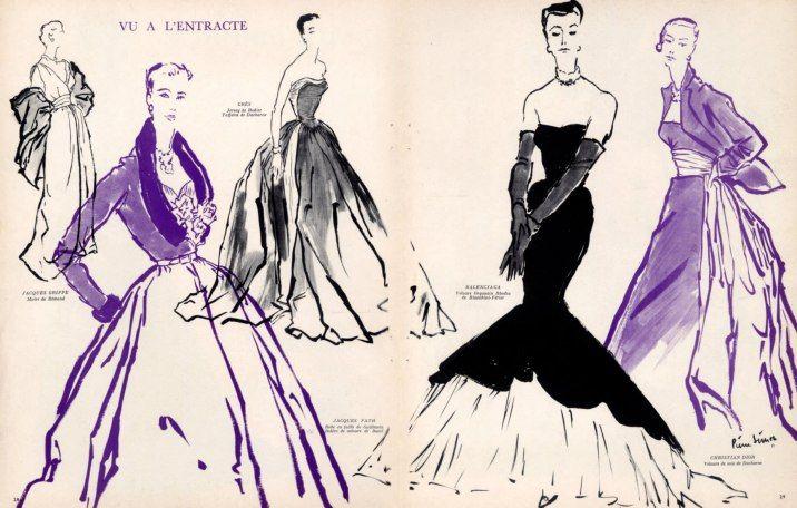 Jacques Griffe (Remond) Jacques Fath (Guillemin & Bucol) Balenciaga (Bianchini) Dior & Grès (Ducharne) 1951 Pierre Simon,