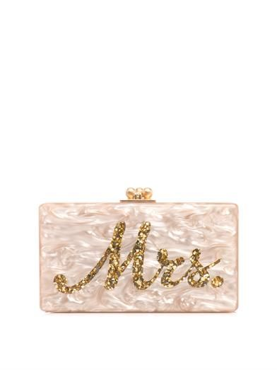 Mrs. box clutch | Edie Parker | This would be perfect for a bride! Elegant! MATCHESFASHION.COM