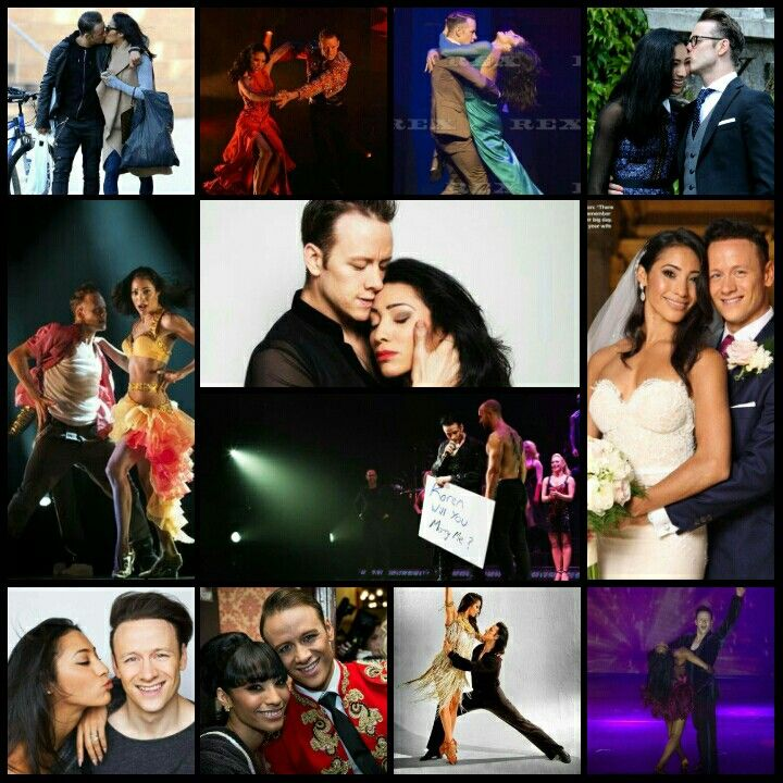 My collage of Kevin Clifton and Karen Clifton