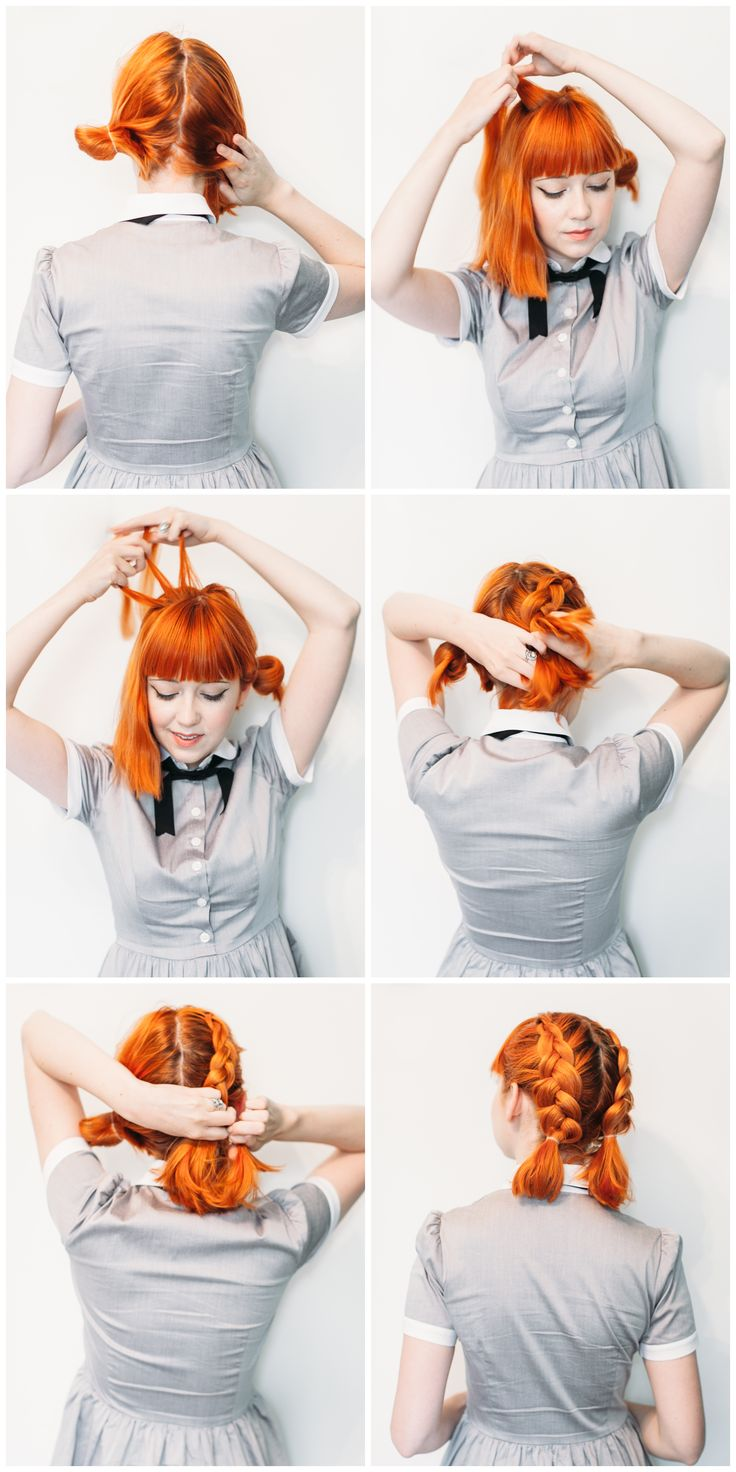 Double Dutch Pigtails for Short Hair
