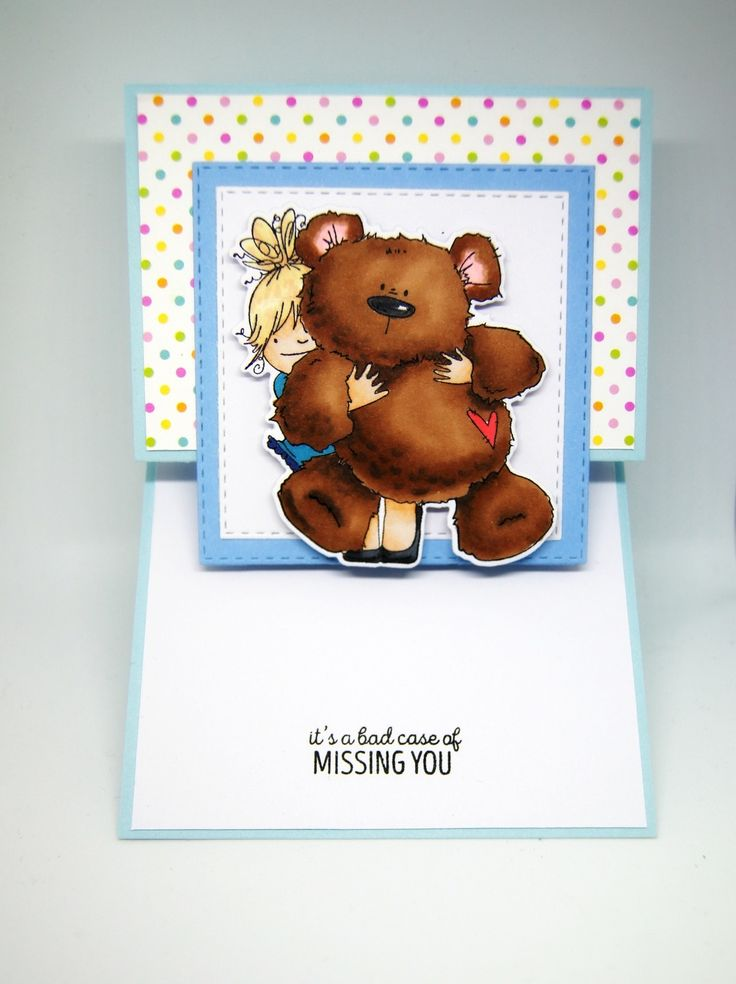 Un gros nounours à caliner... Stamping bella squidgy and teddy