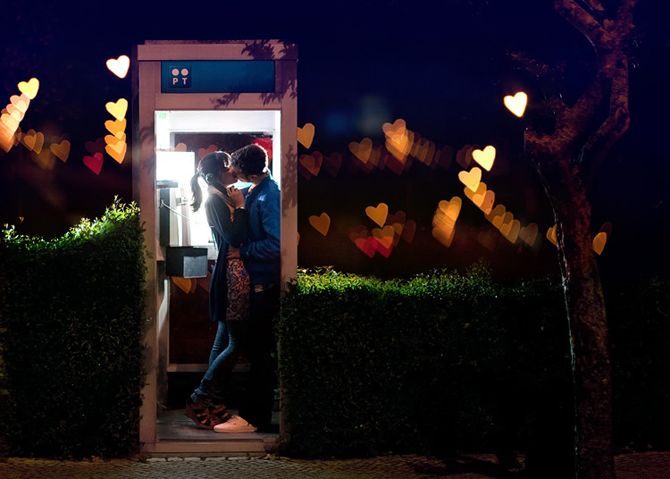 : A Kiss, Valentines Day, Love Kiss, Romance, Kiss Booths, Telephone Booths, Phones Booths, Conceptual Photography, Photography Ideas