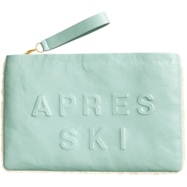 H&M Clutch bag ($10) ❤ liked on Polyvore featuring bags, handbags, clutches, fillers, purses, mint, green clutches, mint handbag, mint purse and handbags & purses