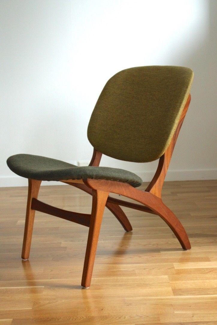 Herlig dansk lenestol i lekent design fra rundt 60-tallet.