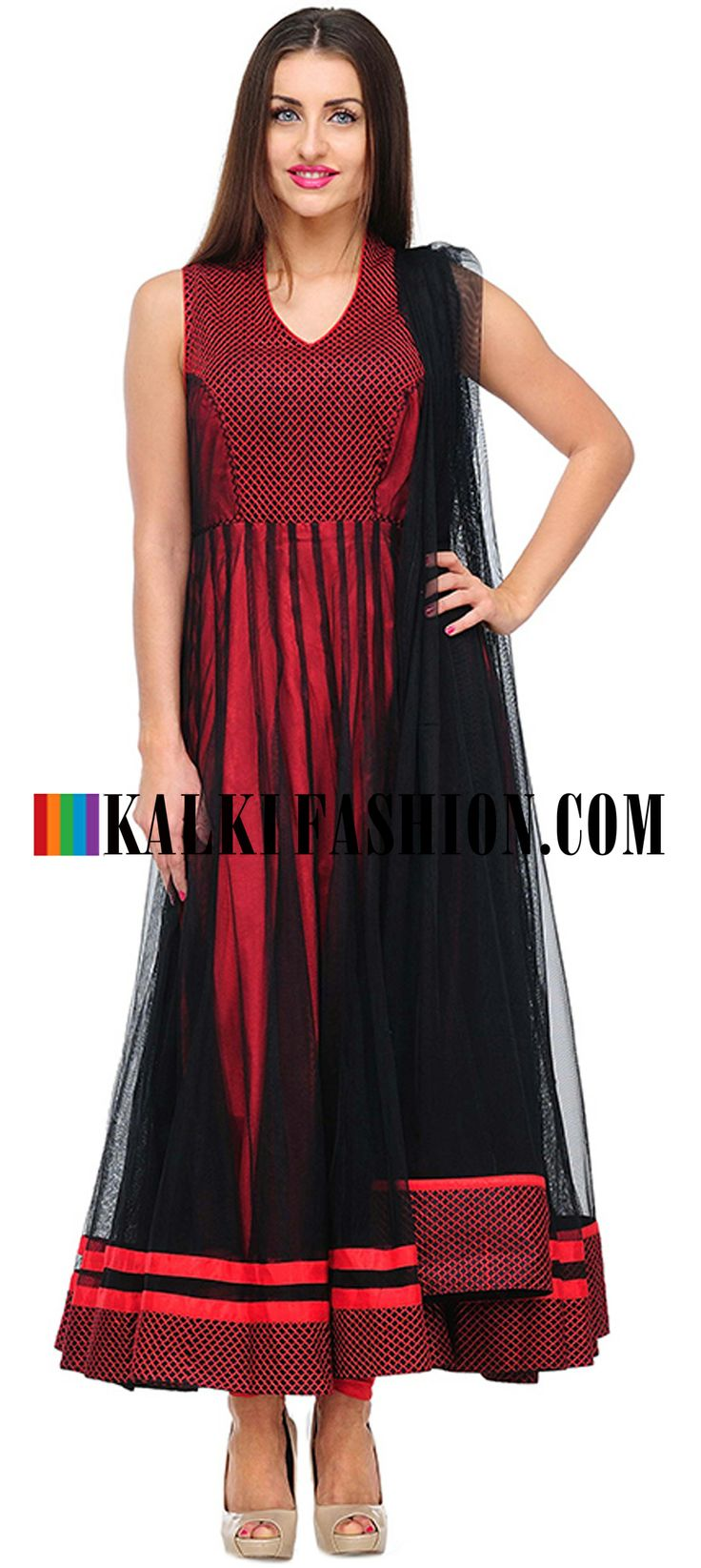 Buy Online from the link below. We ship worldwide (Free Shipping over US$100)  http://www.kalkifashion.com/red-embroidered-anarkali-suit-set.html