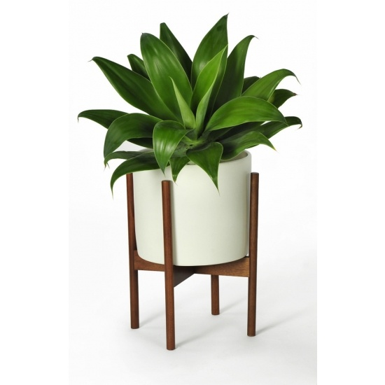Modernica Small White Pot with Stand. Such a great mid-century modern classic.