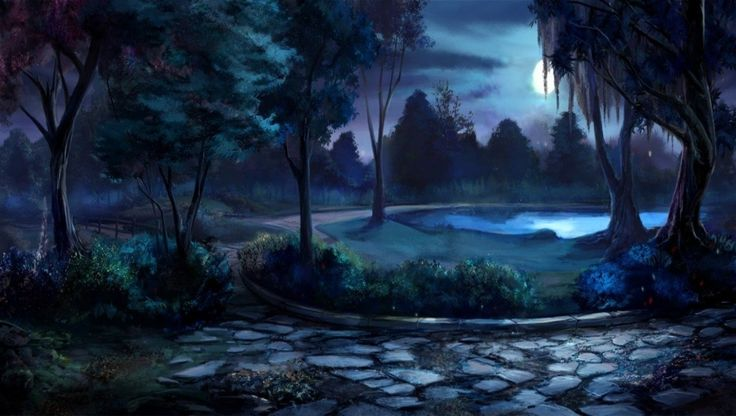 Moon garden at night willow tree lane at night flowers moon night pond trees willow for A night at the garden