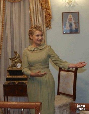 Yulia Tymoshenko green dress