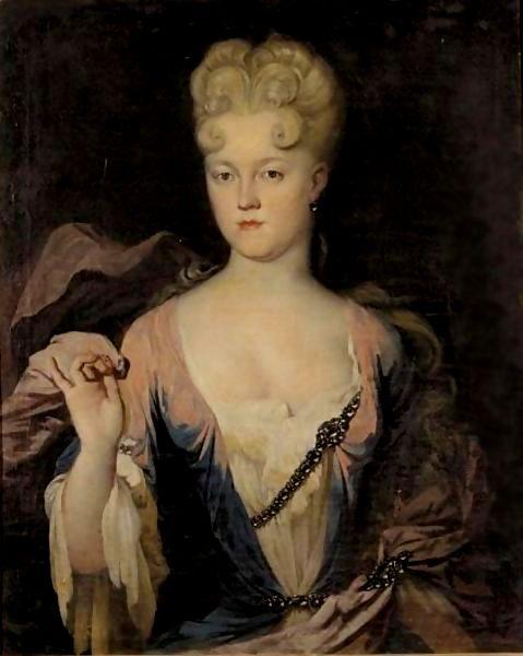 Portrait of Princess Marie-Charlotte von Ostfriesland by Guillain Peter Van Der Zijpen, c. 1700