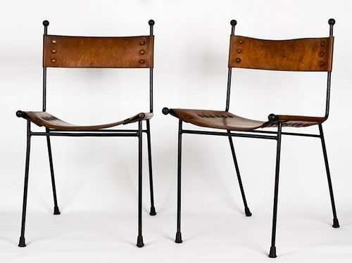 Clement Meadmore , leather dining chairs , 1950's