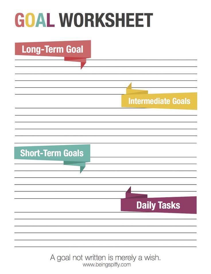 short and long term goals worksheet mmosguides. Black Bedroom Furniture Sets. Home Design Ideas
