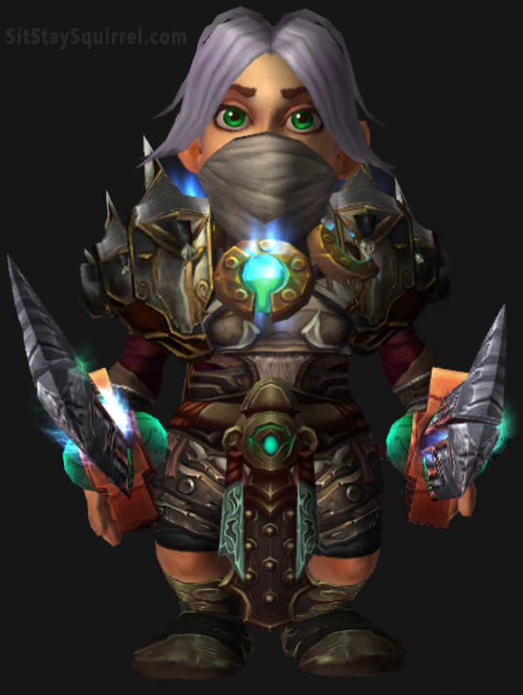 Silver Gnome Rogue Transmog WoW
