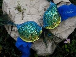 The peacock is not my style but I'm pinning because I love the rhinestone/bedazzled part