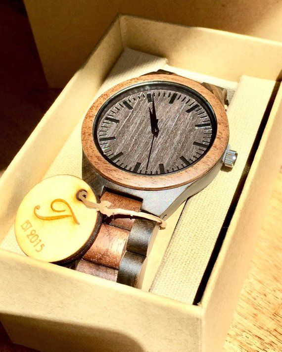 Wood Watch, Men's Wooden Watch, ENGRAVING INCLUDED! Mens Wood Watch,Wood Watches for him, personaliz
