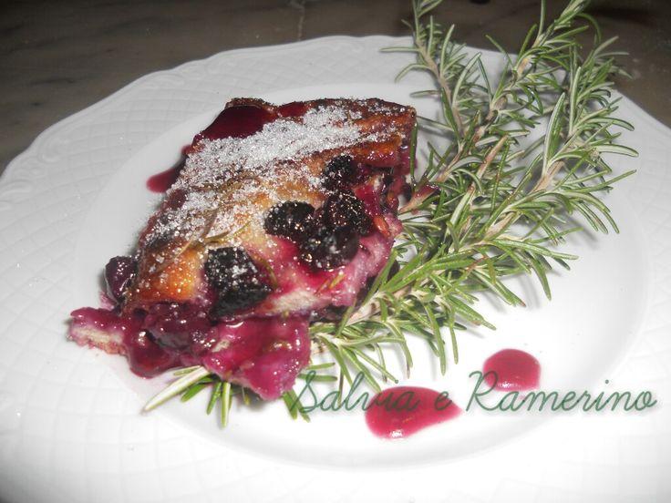 La schiacciata con l' uva (Quella con l'impasto del pane..)
