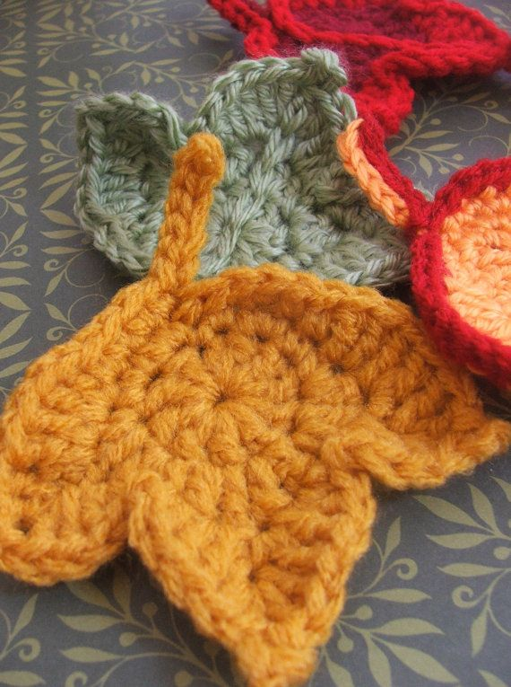 Folhas crochet