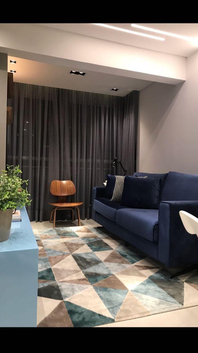 Paleta Sofá Cortina Cadeira E Tapete Decoração Sala