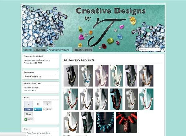 Creative Designs by T website
