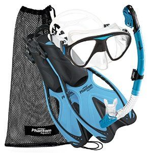 Amazon.com : Phantom Aquatics Adult Speed Sport Mask Fin Snorkel Set : Sports…