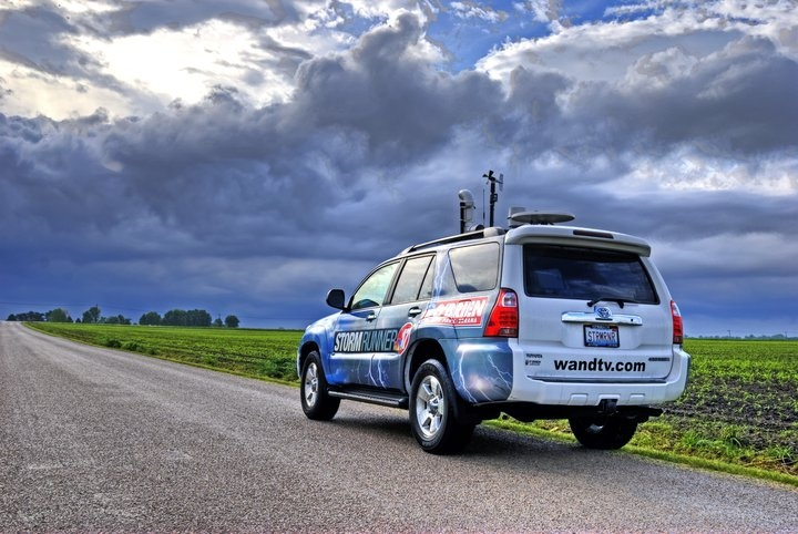 """WAND-TV StormCenter 17 (Decatur, IL.) """"StormRunner"""" out and about in Central, Illinois."""