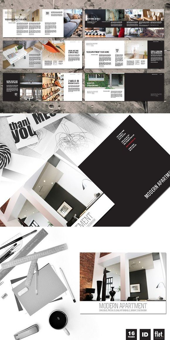 Indesign Modern Apartment Brochure Templates Small Living Room Design Size Designs