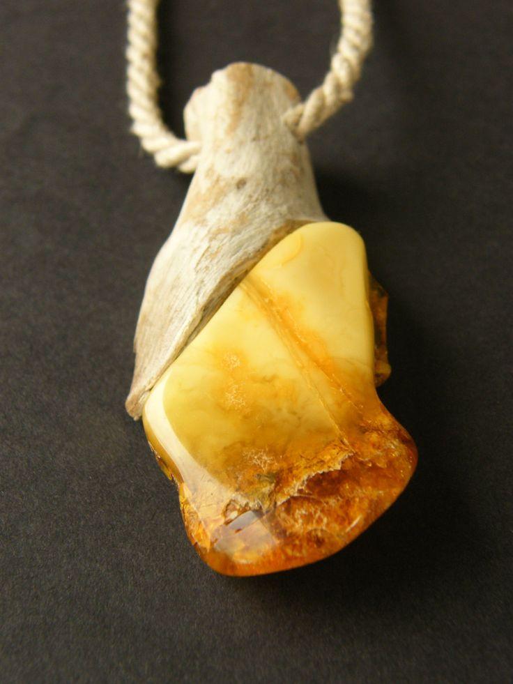 FREE Shipping, Chain, Amber necklace, Drift wood, amberstone…