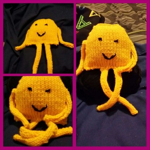First knitted toy... it's a little creepy but not too bad for a first attempt :)