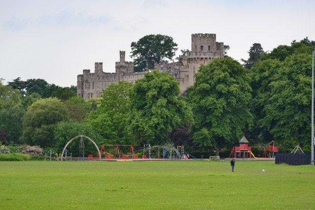 Warwick Castle from St Nicholas Park, Warwick