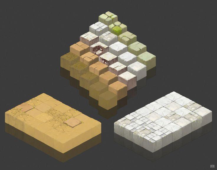 Tiled Ground, Max Yaschuk on ArtStation at https://www.artstation.com/artwork/tiled-ground
