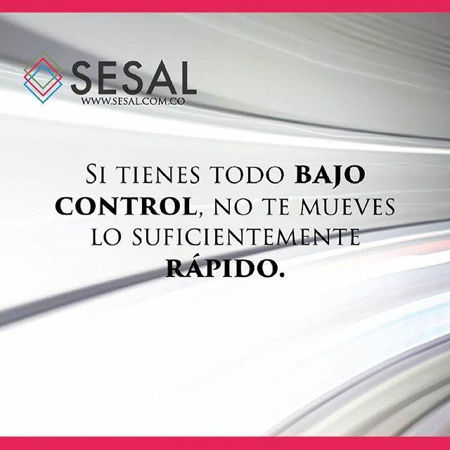 Si tienes todo bajo control no te mueves lo suficientemente rápido.-Mario Andretti. #sesal #marketing #venezuela #colombia #españa #venezolanosencolombia #marketing #marketingdigital #creamostuempresa #emprende #ssl#salud #empresas #sisepuede