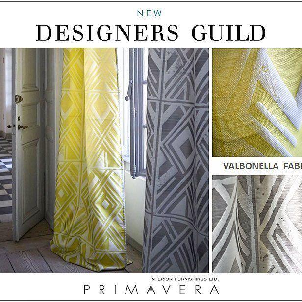 New Designers Guild Fabrics Collections...VALBONELLA! A striking geometric silk…