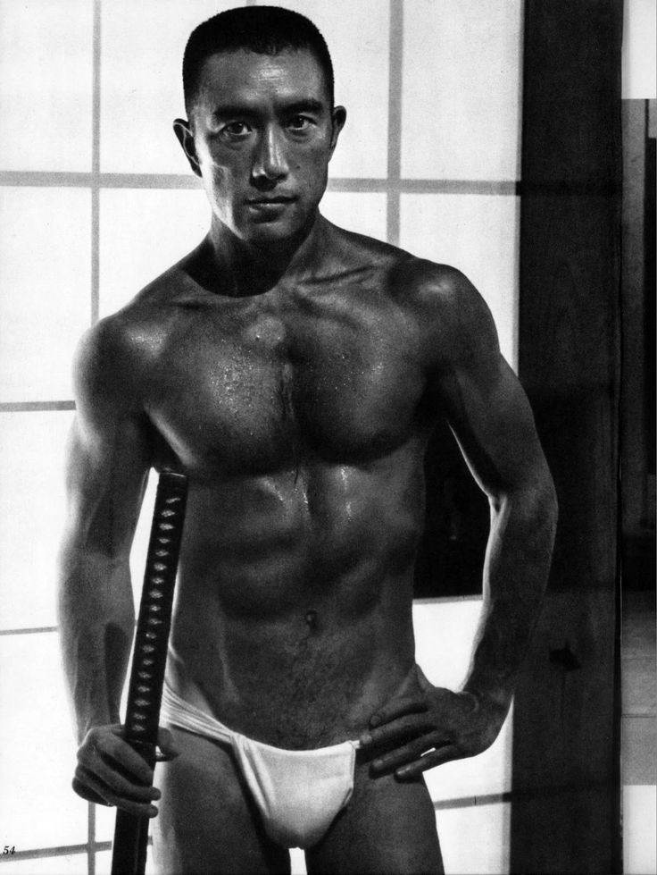 """""""Yukio Mishima, the pen name of Kimitake Hiraoka (平岡 公威 Hiraoka Kimitake), January 14, 1925 – November 25, 1970), a Japanese author, poet, playwright, actor and film director, also remembered for his ritual suicide by seppuku after a failed coup d'état."""" /  Photo by ???"""