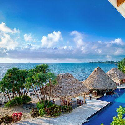 Belize Ocean Club Adventure Resort Placencia, Belize Beach Beachfront Play Pool Resort Scenic views sky water caribbean Ocean Sea Coast arecales swimming pool Island Lagoon tropics