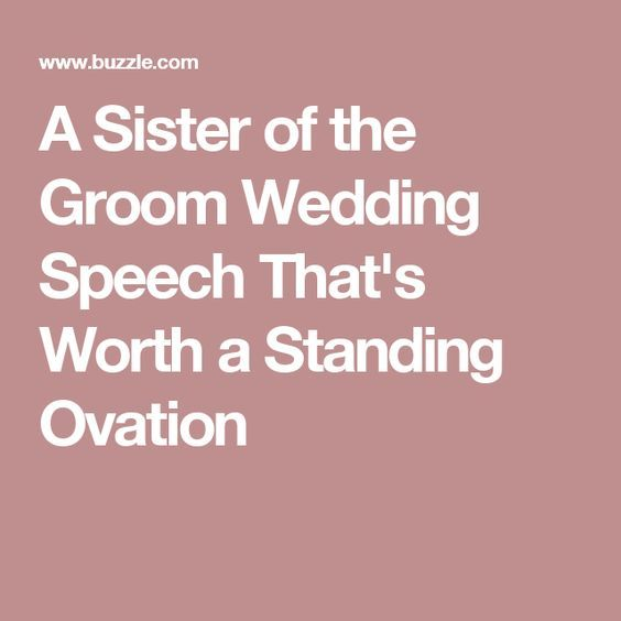 how in order to write that appropriate grooms speech
