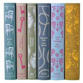 Jane Austen complete Penguin book set.