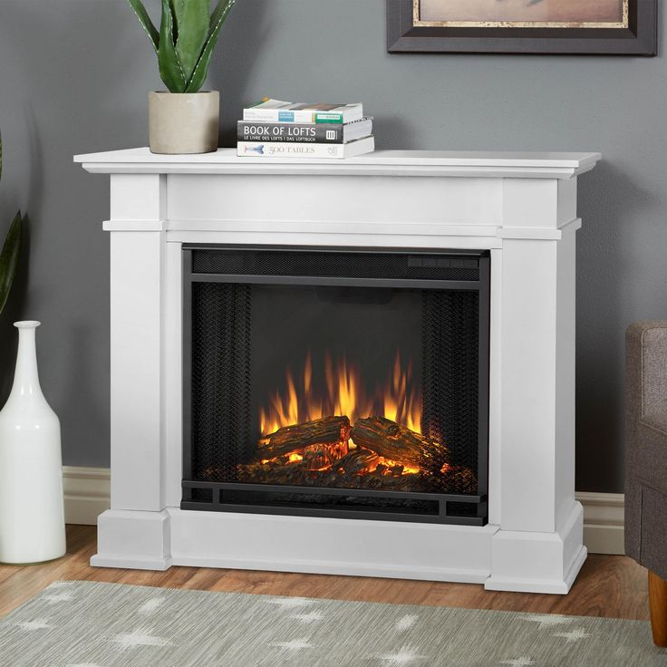 Real Flame Devin White 36.3 in. W x 11 in. D x 30.4 in. H Electric Fireplace | Overstock.com Shopping - The Best Deals on Indoor Fireplaces