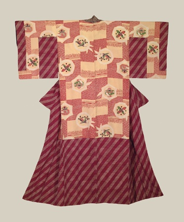 Silk Dounuki, Early Showa era (1927-1940). The Kimono Gallery