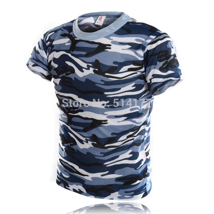 T Shirt Men 2016 New Style Fashion Camouflage Short Sleeve T-shirt, Personality Navy Camouflage O-Neck T-shirt Men's Clothing
