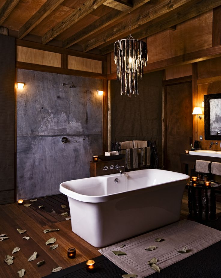 Evening candlelight bath in private rooms at Xudum Delta Lodge, Botswana