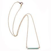 Mint Mako Bar Necklace