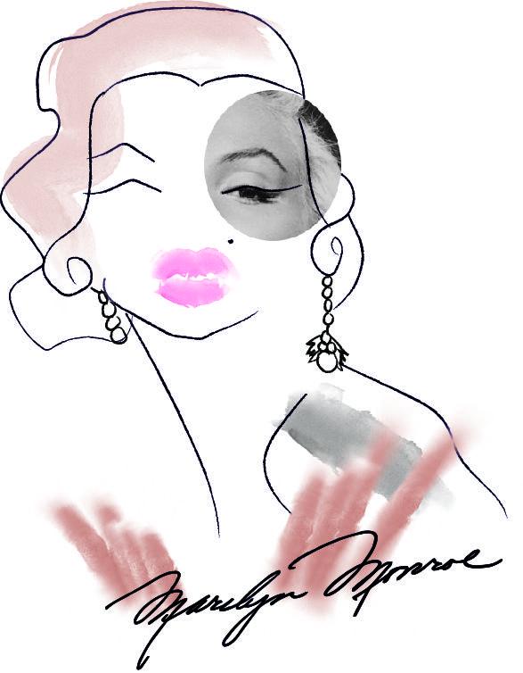 Fashion illustration/portrait by artist Tania Muhonen.