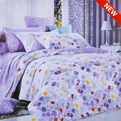 North Home Pansy Duvet Cover Set