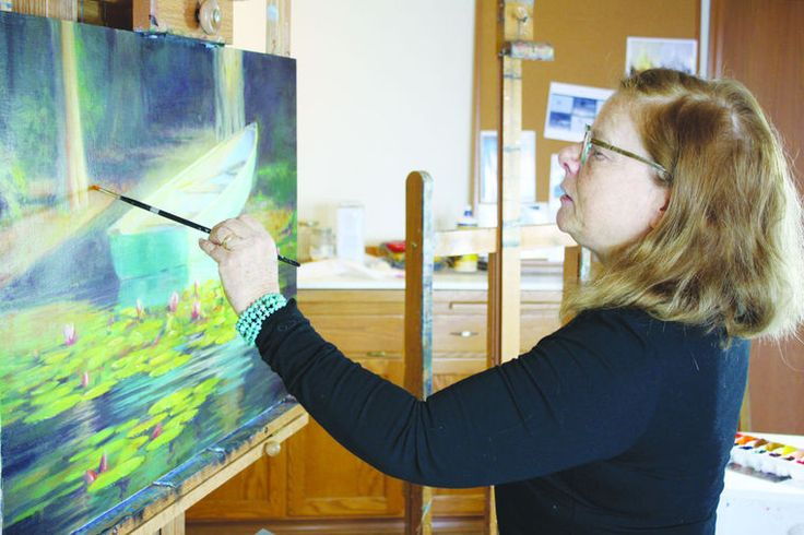 Michele Rushworth, a new Camano Island artist, has rubbed elbows with a lot of big shots.